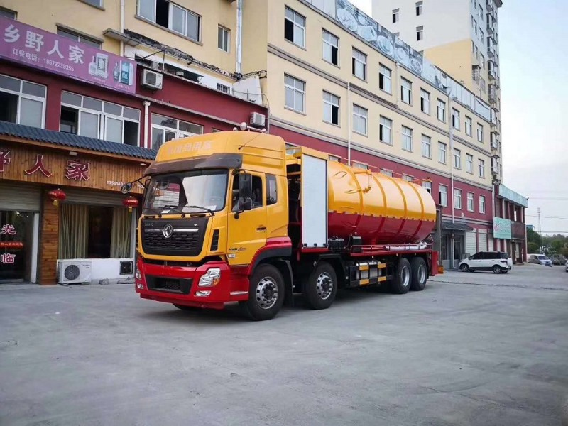 东风天龙前四后八36方大吨位重型清洗吸污车